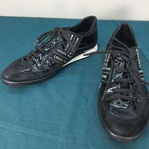 Louis Vuitton Black White Signature Sneakers